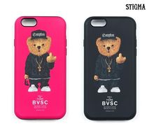 ★ STIGMA ★ iPhone PHONE CASE COMPTON BEAR PINK, BLACK