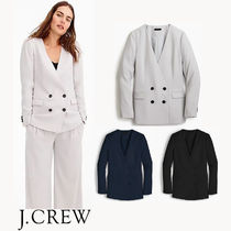 J CREW French girl blazer in 365 crepe★ダブルボタンブレザー