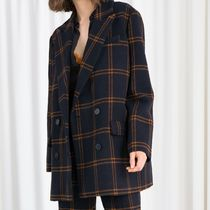 """& Other Stories"" Oversized Double Breasted Blazer Plaid"