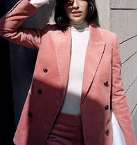 """& Other Stories"" Double Breasted Corduroy Blazer Pink"