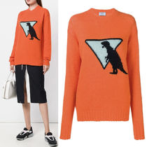 PR1433 T-REX INTARSIA WOOL SWEATER