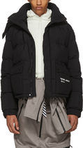 "OFF-WHITE ☆ QUOTE PUFFER ""DOWN JACKET"" ダウンジャケット 黒"