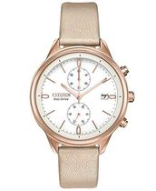 Ladies ' Citizen eco-drive ChandlerタンVegan Leather Watch f