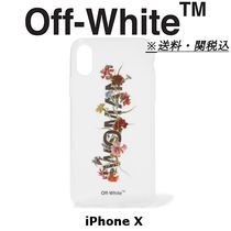 OFF-WHITE Floral-print acrylic iPhone X ケース 送料関税込