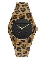 追尾/送料/関税込 GUESS LEOPARD-PRINT ANALOG WATCH U0979L15