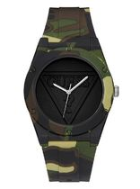 追尾/送料/関税込 GUESS CAMO-PRINT ANALOG WATCH U0979L16