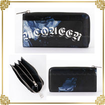 国内発★Alexander McQueen HAND-PAINTED ROSE ジップ長財布