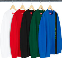Week2新作!SUPREME18FW★Vertical Logo Stripe L/S Top