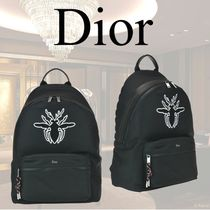 VIP価格【Dior】RIDER BACKPACK WITH BEE PATCH DETAIL 関税込