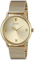 GUESS Men's U0280G3 Dressy Gold-Tone Watch with Plain Gold