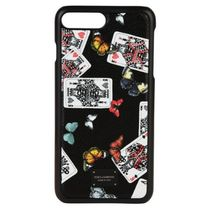 Dolce & Gabbana☆cards and butterfly print iPhone ケース