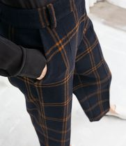 "& Other Stories(アンドアザーストーリーズ) パンツ ""& Other Stories"" Cropped Wool Blend Trousers Plaid"