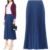 PR1461 PLEATED FLUID TWILL SKIRT