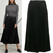 PR1462 PLEATED FLUID TWILL SKIRT