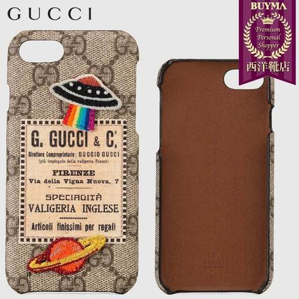 GUCCI スマホケース・テックアクセサリー 【正規品保証】GUCCI★18秋冬★GUCCI COURRIER IPHONE 8 CASE