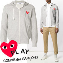 ● COMME des GARCONS PLAY ●新 Red Heart ジップパーカ グレー