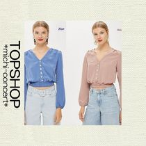 TOPSHOP Madelyn Button Top