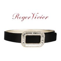 【18AW】★ROGER VIVIER★satin embellished belt