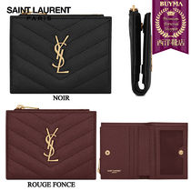 【正規品保証】SAINT LAURENT┃18秋冬┃MONOGRAM ZIPPED