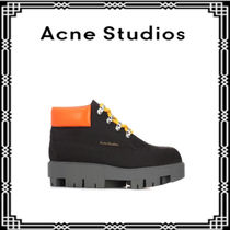 Acne★希少★Tinne Contrast nubuck and leather ankle boots★