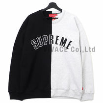 ★国内発送★ Supreme Split Crewneck Sweatshirt 黒