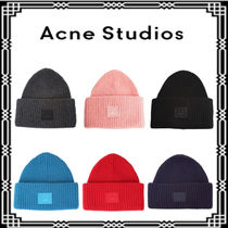 Acne★希少★大特価!Pansy N Face ribbed-knit wool beanie hat
