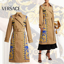 【18AW】VERSACE Lovers バロックプリント トレンチコート