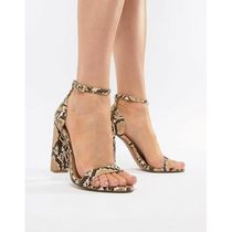 ★ASOS★ DESIGN Highball Barely There Heeled Sandals