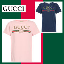 ☆GUCCI☆ ピンクヴィンテージロゴTシャツ♪ 大人OK/10A