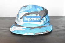 【AW18】Supreme(シュプリーム)REFLECTIVE CAMO CAMP CAP/BLUE