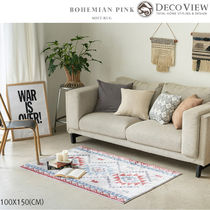 DECO VIEW(デコヴュー)★Bohemian Pink Soft Rug - 100 X 150