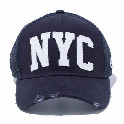 New Era キャップ 【即発】NEW ERA 9FORTY A-Frame NYC ダメージ キャップ DAMAGE (2)