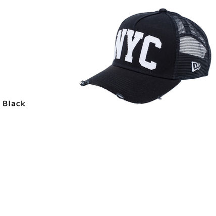 New Era キャップ 【即発】NEW ERA 9FORTY A-Frame NYC ダメージ キャップ DAMAGE (5)