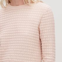 """COS""  WAFFLE-STITCH COTTON JUMPER PINK"