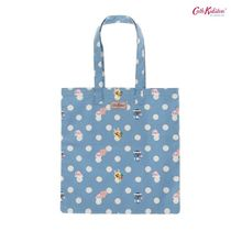 Cath Kidston × カカオフレンズ★BUTTON SPOT COTTON BOOK BAG