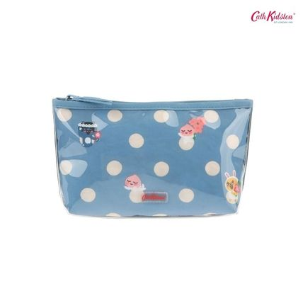 Cath Kidston メイクポーチ キャス × カカオフレンズ★BUTTON SPOT POLY LINED MAKE UP BAG