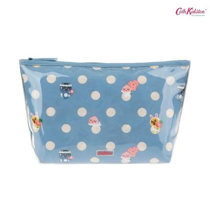 Cath Kidston メイクポーチ キャス × カカオフレンズ★BUTTON SPOT POLY LINED WASH BAG