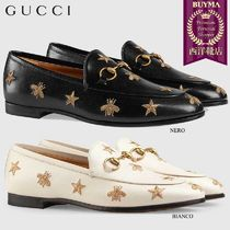 【正規品保証】GUCCI★18秋冬★GUCCI JORDAAN LEATHER LOAFER