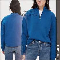 【国内発送・関税込】TOPSHOP★Zip Funnel Neck Sweatshirt