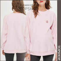 【国内発送・関税込】TOPSHOP★Love Embroidered Sweatshirt