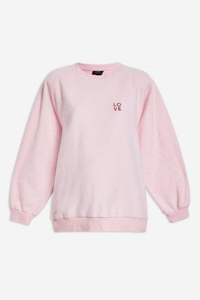 TOPSHOP マタニティトップス 【国内発送・関税込】TOPSHOP★Love Embroidered Sweatshirt(2)
