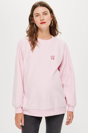 TOPSHOP マタニティトップス 【国内発送・関税込】TOPSHOP★Love Embroidered Sweatshirt(3)
