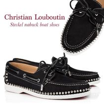 Christian Louboutin Steckel nabuck boat shoes