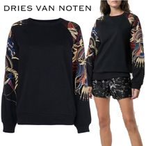【18AW】★Dries Van Noten★embroidered arms jersey top