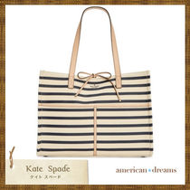SALE★ 即発送!kate spade ボーダー柄 トートバッグ