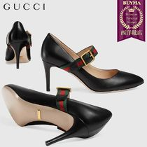 【正規品保証】GUCCI★18秋冬★SYLVIE LEATHER MID-HEEL PUMP