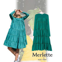 Merlette ESSAOUIRA DRESS ワンピース green