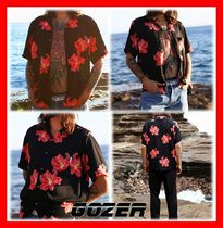 GOZER(ゴーザー) シャツ 18SS★人気【GOZER】★RED FLOWER HAWAIIAN SHIRT★2色★UNISEX