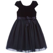 <セール> Polo Ralph Lauren Navy Blue Velvet Tulle Dress