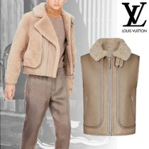 新作18AW LOUIS VUITTON SHEARLING AVIATOR ムートンジャケット